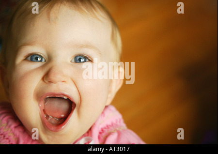 Child laughs - Stock Photo