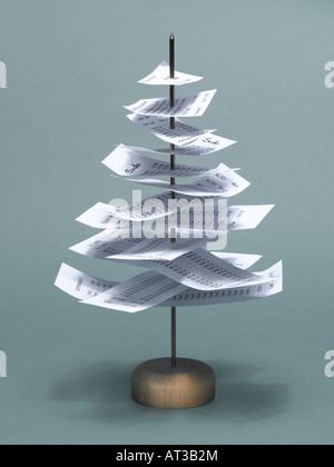 A receipt tree - Stock Photo