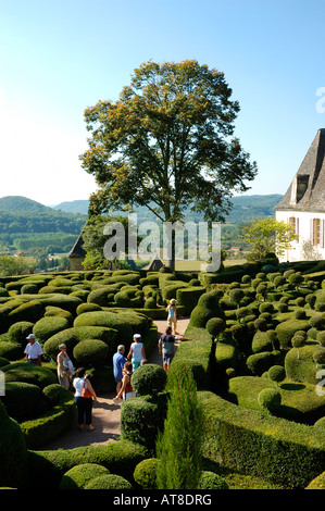 Perigord Dordogne France 'gardens of Marqueyssac ' - Stock Photo