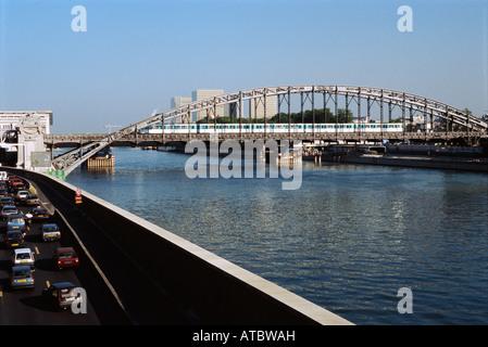 Austerlitz Viaduct, Paris, France - Stock Photo