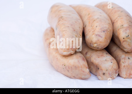Raw sausages - Stock Photo