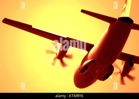 Propeller cargo aircraft - Stock Photo