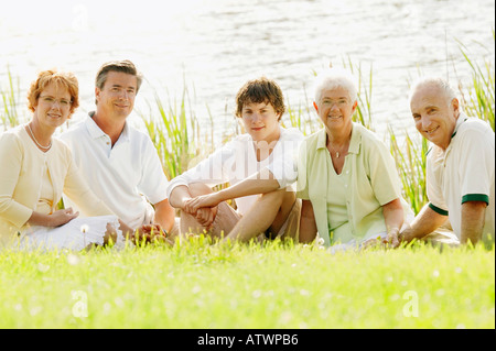 A portrait of three generations - Stock Photo