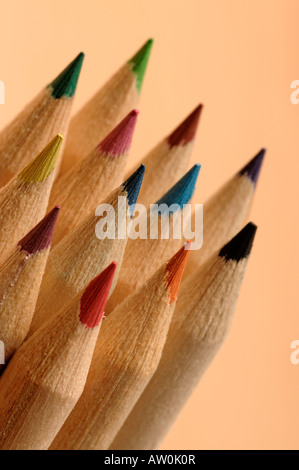 Wooden pencil tips - Stock Photo