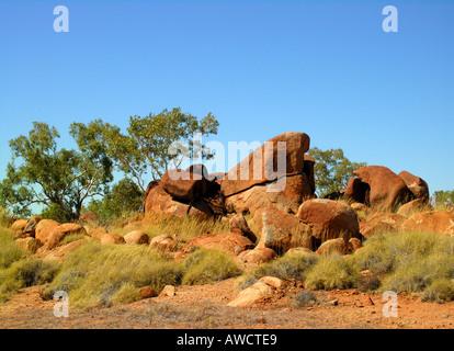 Red  rocks, Northern Territories - Stock Photo