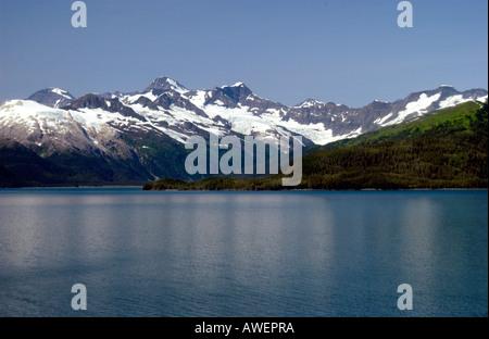 Photo of Scenic Snowcapped Mountains in Southwest Alaska, USA - Stock Photo