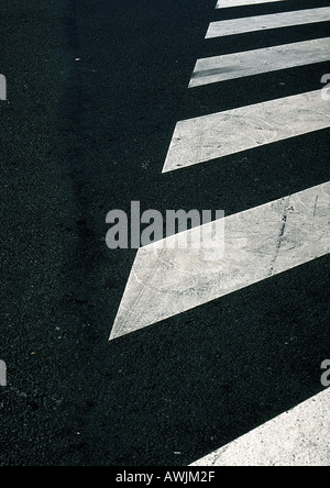 Crosswalk lines on street. - Stock Photo