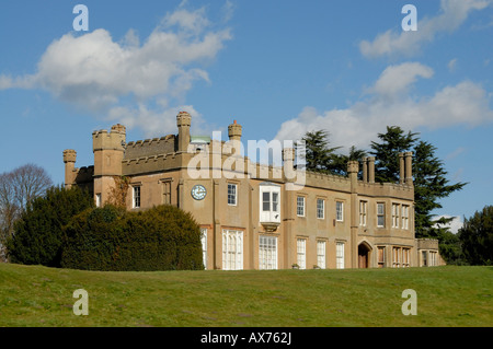The Nonsuch Mansion House, situated in the gardens of Nonsuch Park, between Cheam and Ewell in south London, Surrey, - Stock Photo