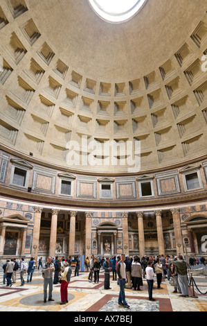 Interior of the Pantheon, Piazza della Rotonda, Historic Centre, Rome, Italy - Stock Photo