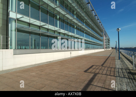 modern office building dock country in the altonaer fishing port stock photo royalty free image. Black Bedroom Furniture Sets. Home Design Ideas