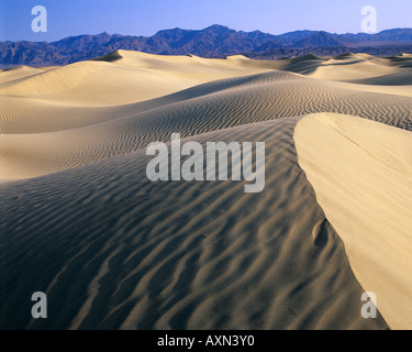Rippled dunes in Death Valley National Park, California - Stockfoto
