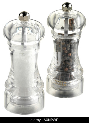 SALT AND PEPPER MILL / GRINDER CUT OUT - Stock Photo