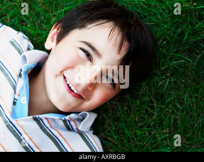 Boy smiling - Stock Photo