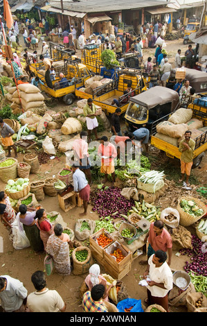 Above the Market, Trivandrum, Kerala, India - Stock Photo