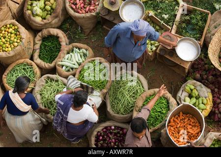 Market Buyers, Trivandrum, Kerala, India - Stock Photo