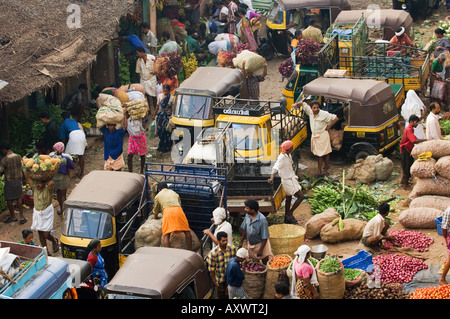 Market, Trivandrum, Kerala, India - Stock Photo