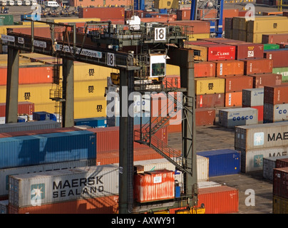 Felixstowe Container Port Terminal Suffolk England Great Britain - Stock Photo