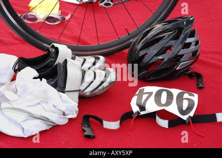 Triathlon gear - Stock Photo