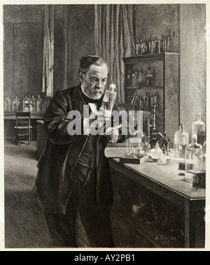 Pasteur In Lab Edelfelt - Stockfoto