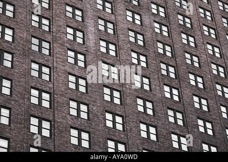 High Rise Building On Broadway Manhattan New York City - Stock Photo
