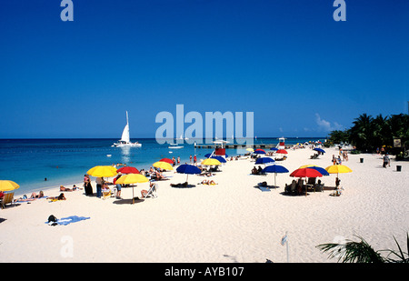 Montego Bay in Jamaica Dr Cave Beach - Stock Photo