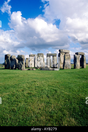 Ancient Monument of Stonehenge in Wiltshire England - Stock Photo