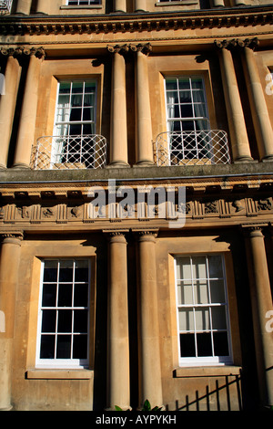 Curved Buildings At The Circus Crescent Bath View Of