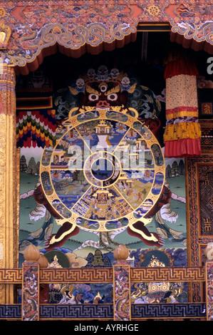 tibetan buddhism painting symbol wheel of above lotus