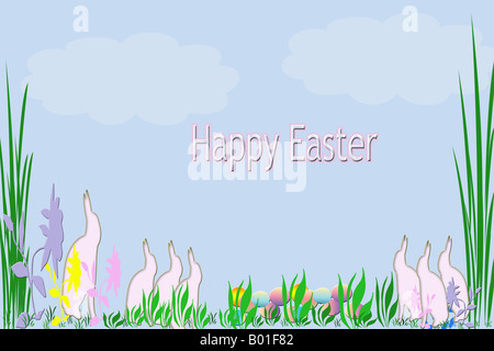 Happy Easter Card - Stock Photo