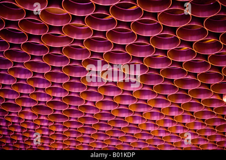 Ceiling detail at the airport, Moscow, Russia - Stock Photo