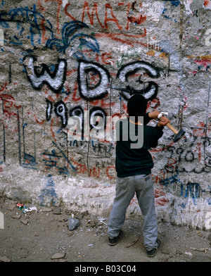 Small section Berlin wall, Germany - Stockfoto