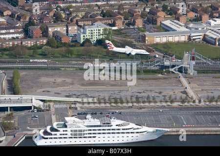 Yacht and Aircraft - Stock Photo