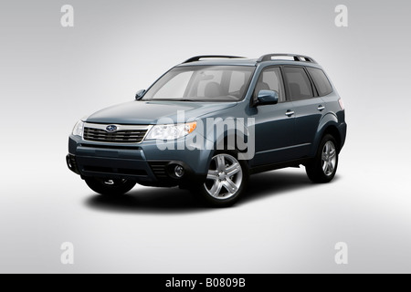 2009 subaru forester ll bean in blue nav unit head on. Black Bedroom Furniture Sets. Home Design Ideas