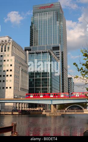 Canary Wharf - Heron Quays, Docklands Light Railway - Stock Photo