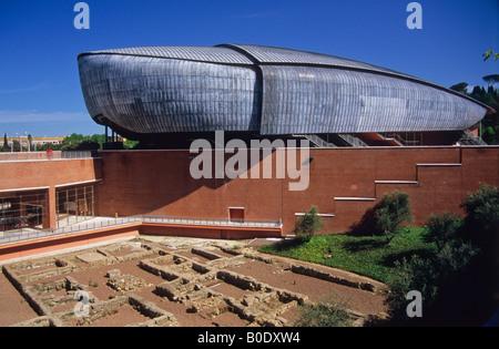 auditorium, parco della musica, by architect renzo piano, rome, lazio, italy - Stock Photo