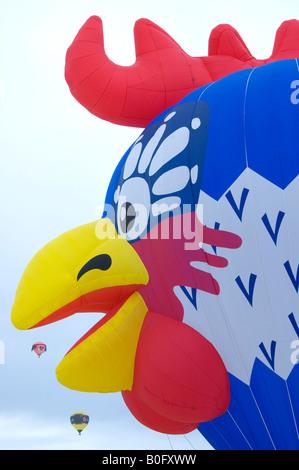 International Hotair Ballon Festival in Chateau d'Oex Vaud Switzerland - Stock Photo
