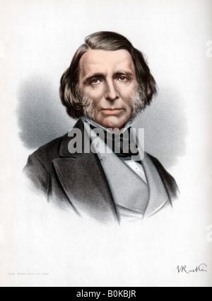 John Ruskin, British author, poet, artist and critic, c1890. Artist: Cassell, Petter & Galpin - Stock Photo
