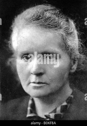 Marie Curie (1867-1934), Polish-born French physicist, 1926. - Stock Photo