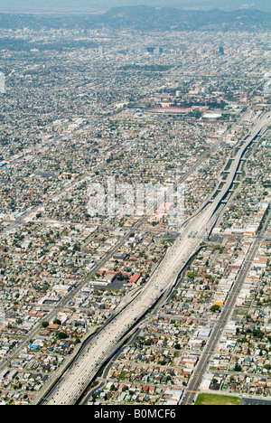 Aerial of Los Angeles (L.A.), California, USA. - Stock Photo