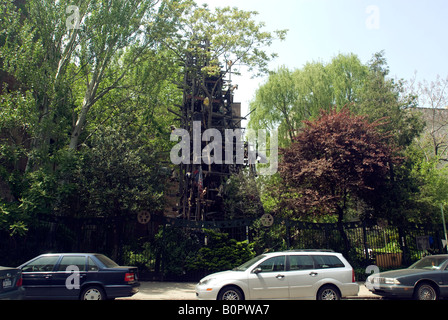 New York East Village Sixth Street Community Garden Scenes Stock Photo Royalty Free Image