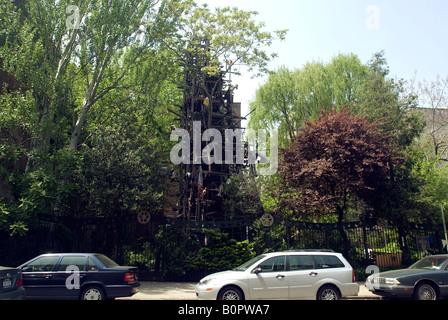 New York East Village Sixth Street Community Garden Scenes Stock Photo Royalty Free Image