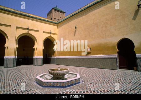 morocco, meknès, mausoleum of moulay ismail - Stock Photo