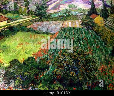 fine arts, Gogh, Vincent van, (1853 - 1890), painting, 'poppy field,', 1889 / 1890, oil on canvas, 71 cm x 91 cm, - Stock Photo