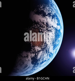 Satellite Image of The Earth from Space - Stock Photo
