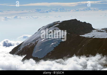 mount kilimanjaro aerial view summit. an aerial view of