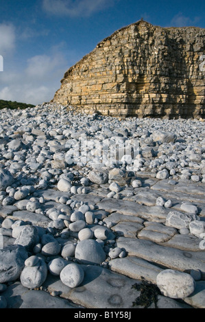 Beach and Cliffs at Llantwit Major on the Glamorgan Heritage Coast - Stockfoto