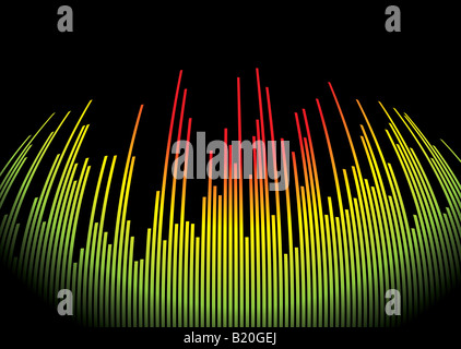 Abstract musical background showing a graphic equalizer in black - Stock Photo