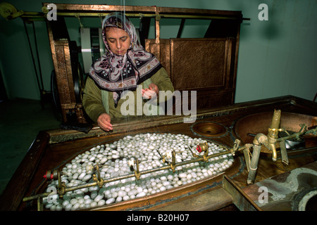 Women Workers In A Carpet Factory Electric Lights With