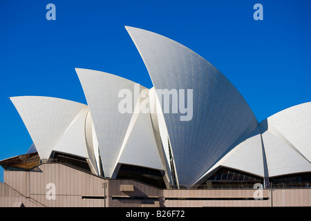 Sydney Opera House on Bennelong Point Sydney NSW Australia - Stock Photo