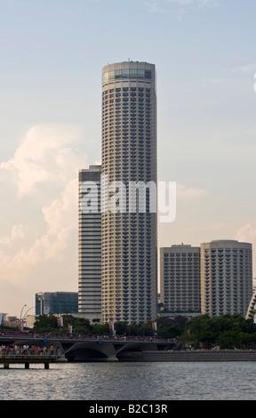 Financial District of Singapore at Marina Bay, Swiss Hotel, Westin Samford Hotel, Singapore, Singapore Republic, - Stock Photo